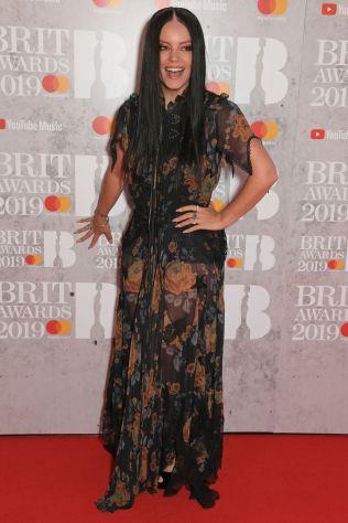 Lily Allen in Coach 1941 ai Brit Awards 2019, London