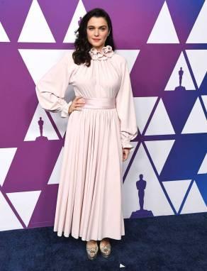 Rachel Weisz in Marc Jacobs e sandali Aquazzurra ai The Academy Awards Nominees Luncheon, Los Angeles