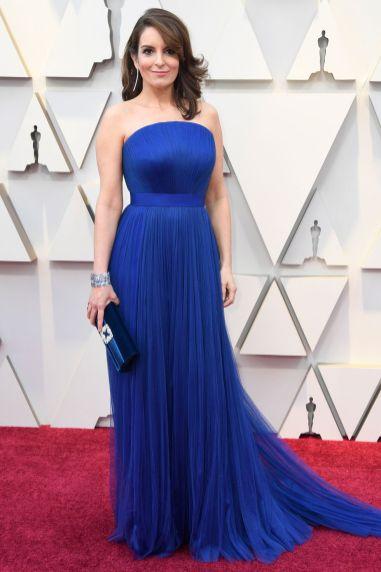 Tina Fey in Vera Wang agli Oscars 2019,LA