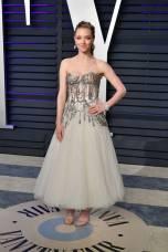 Amanda Seyfried in Alexander McQueen al Vanity Fair Oscar after party, LA