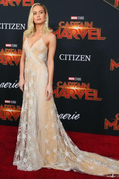 Brie Larson in Rodarte alla premiere of Captain Marvel, Hollywood