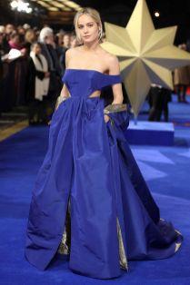Brie Larson in Valentino alla premiere of Captain Marvel