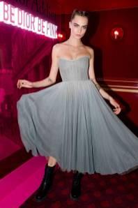 Cara Delevingne in DIor al Dior Addict Party, Paris