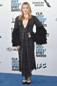 Chloe Grace Moretz in Loewe agli Film Independent Spirit Awards.