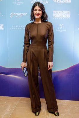 Gemma Arterton in Emilia Wickstead alla premiere di Vita & Virginia.