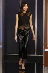 Gemma Chan in Huishan Zhang al Jimmy Kimmel Live