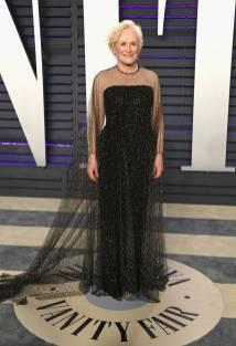 Glenn Close in Armani Prive al Vanity Fair Oscar after party, LA