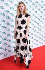 Lily James in Petar Petrov agli Into Film Awards, London.