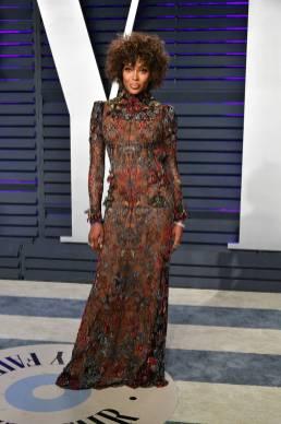 Naomi Campbell in Alexander McQueen al Vanity Fair Oscar after party, LA