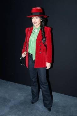 Salma Hayek in Saint Laurent Saint Laurent Show, Paris