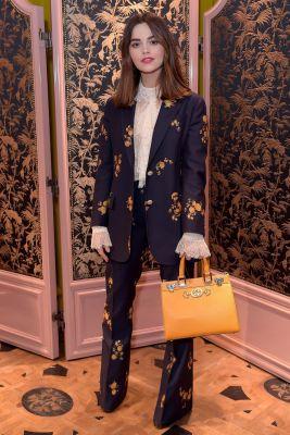 Jenna Coleman in Gucci al Gucci Zumi event, London.