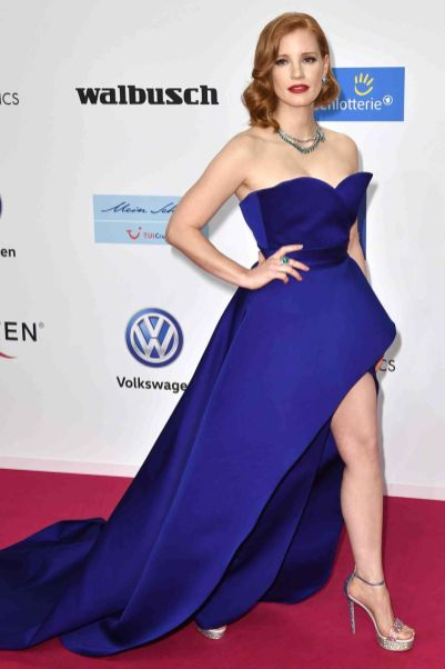 Jessica Chastain in Elie Saab ai Goldene Kamera Awards, Berlin