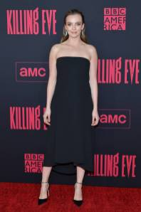 Jodie Comer in Victoria Beckham alla Killing Eve Season 2 Premiere, Hollywood
