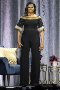 Michelle Obama in Stella McCartney al Becoming book tour, London.