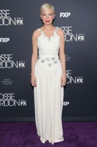 Michelle Williams in Louis Vuitton alla premiere of FosseVerdon, New York