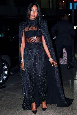Naomi Campbell in Balmain al matrimonio di Marc Jacobs e Char Defrancesco