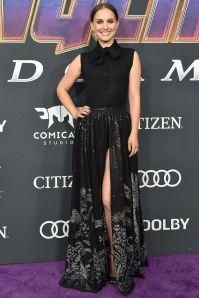 Natalia POrtman in Dior alla premiere of Avengers Endgame, LA