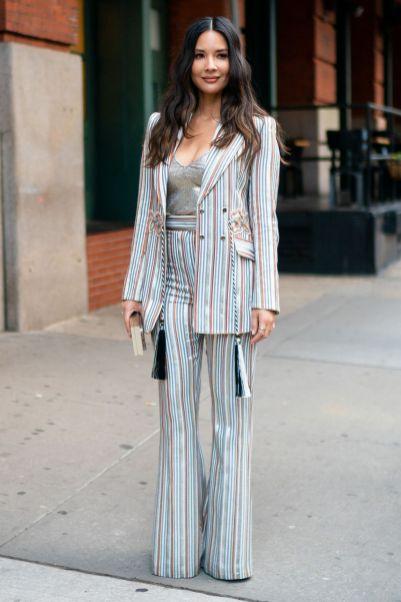 Olivia Munn in Peter Pilotto, New York.