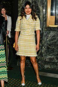 Priyanka Chopra in Chanel all'opening night of Burn This,New York.