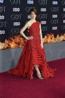 Rose Leslie in Oscar de la Renta alla 'Game of Thrones' Season 8 Premiere, New York