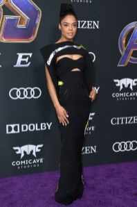 Tessa Thompson in Ronald van der Kemp alla premiere of Avengers Endgame, LA