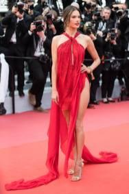 Alessandra Ambrosio in Julian Macdonald alla Miserables Premiere, Cannes Film Festival