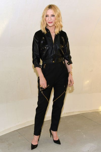 Cate Blanchett in Louis Vuitton al Louis Vuitton 2020 cruise show, New York
