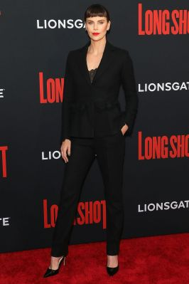 Charlize Theron alla premiere of Long Shot, NY