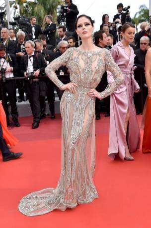 Coco Rocha in Elie Saab Haute Couture al Cannes Film Festival Red Carpet 2019