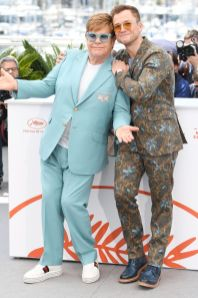 Elton John e Taron Egerto al photocall per Rocketman, Cannes Film Festival