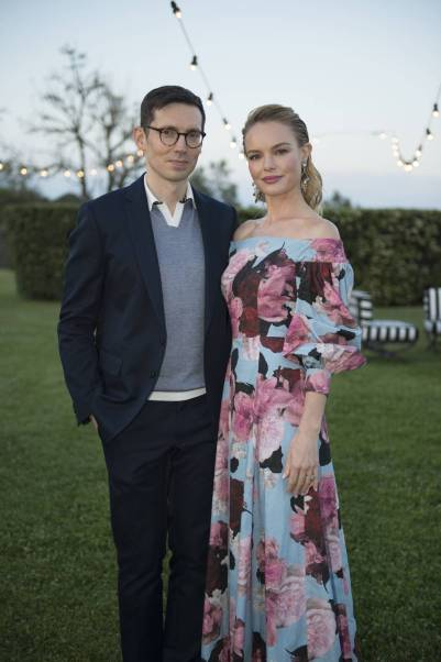 Erdem Moralioglu e Kate Bosworth in Erdem x Mytheresa collection.al MyTheresa.com And Erdem Celebration, La Posta Vecchia