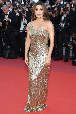 Eva Longoria in Cristina Ottaviano al Cannes Film Festival