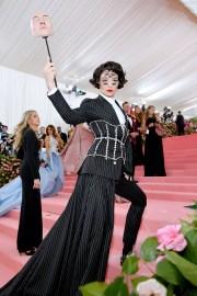 Ezra Miller wearing Buberry at the Metropolitan Museum of Art's Costume Institute Gala 2019