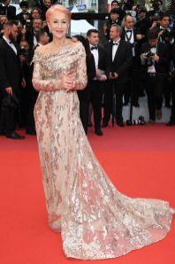 Helen Mirren con gioielli Chopard alla premiere of Les Plus Belles Annees D'Une Vie, Cannes Film Festival