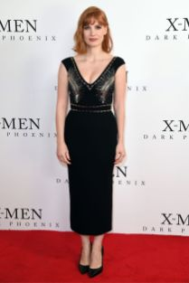 Jessica Chastain in LBD al X-Men Dark Phoenix photocall, London