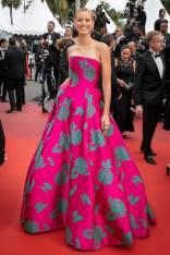 Karolina Kurkova in Etro al Cannes Film Festival Red Carpet 2019