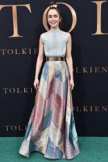 Lily Collins alla premiere of Tolkein, LA.