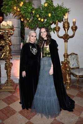 Maria Grazia Chiuri e Rachele Regini, entrambi in DIor, al The Tiepolo Ball, Venice