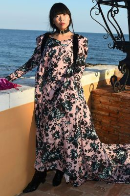 Susie Law in Erdem x Mytheresa collection.al MyTheresa.com And Erdem Celebration, La Posta Vecchia