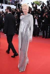 Tilda Swinton in Haider Ackermann ai Cannes Film Festival