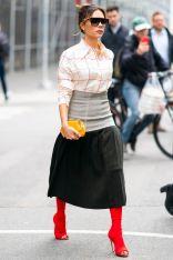 Victoria Beckham in una sua creazione, NY