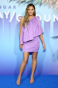 Chrissy Teigen al Popsugar event, New York