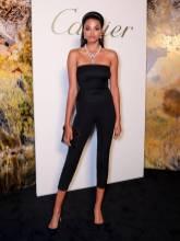 Ella Balinska in Prada e gioielli Cartier al Cartier's Magnitude Jewellery Gala Dinner, London