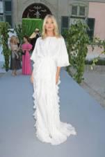 Elsa Hosk in Alberta Ferretti al The Naked Heart Foundation Secret Garden Gala, Switzerland