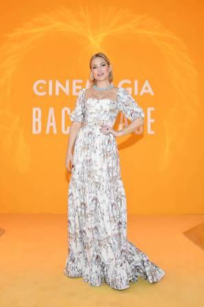 Kate Hudson in Markarian e gioielli Bulgari al Bvlgari Hight exhibition launch, Capri