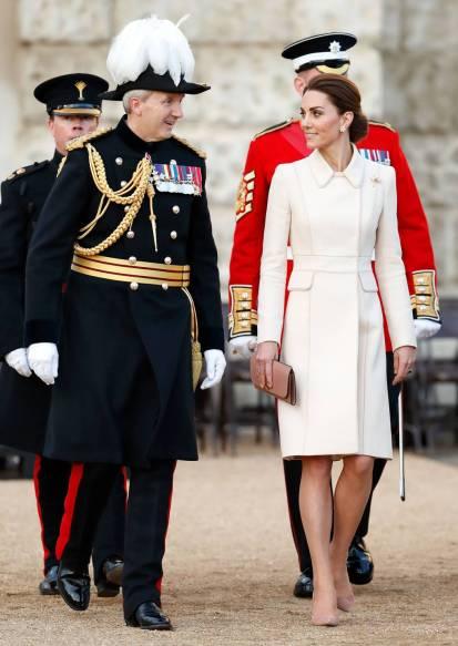 La Duchessa di Cambridge in Catherine Walker al Household Division's 'Beating Retreat', London