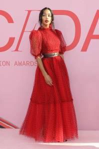 Laura Harrier in Khaite ai The CFDA Awards, New York