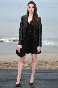 Mackenzie Foy in Saint Laurent al Saint Laurent menswear show, LA