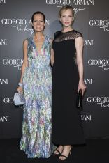 Roberta Armani e Uma Thurman al Giorgio Armani Resort 2020 show,Tokyo