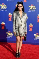 Tessa Thompson in Thom Browne agli MTV Movie and TV Awards